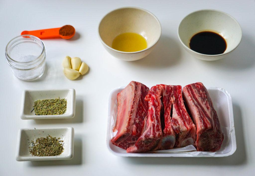 говяжьи ребра в маринаде в духовке